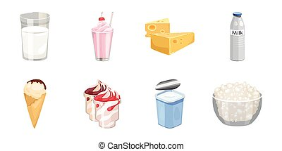 Milk product icons in set collection for design. Milk and food vector symbol stock web illustration.