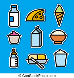 milk products stickers