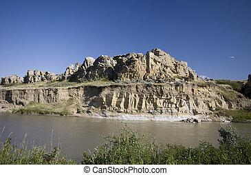 Milk River Alberta Badlands Alberta Southern Canada