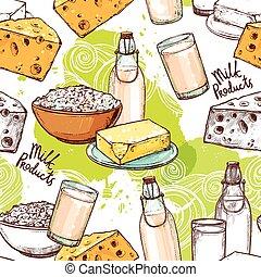 Milk Seamless Pattern