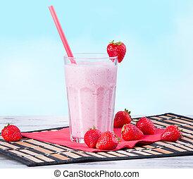 Milk shake - Fresh milk shake with fruits, milk product
