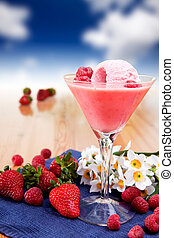 Milk Shake Smoothie - A fancy glass of milk shake smoothie...