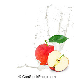 Milk splash apple