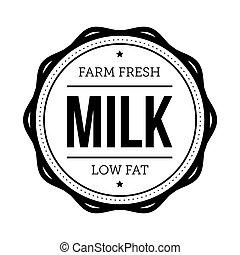 Milk vintage stamp sign