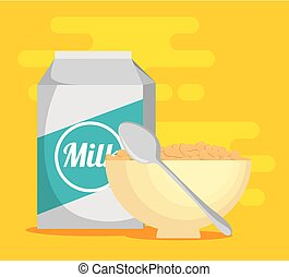 milk with cereal healthy food