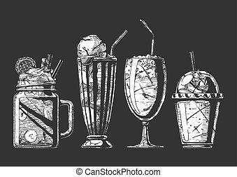 milkshake, セット, 別