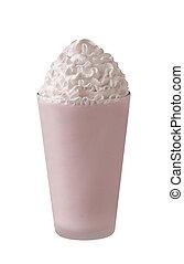 milkshake on a white background