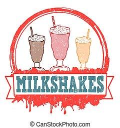 Milkshakes stamp