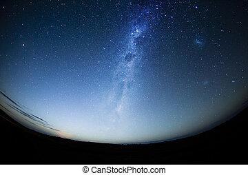 milkway, hemisferio, cielo meridional, noche