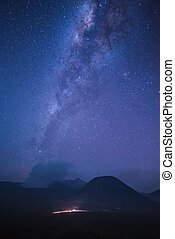 Milky way above the Volcano