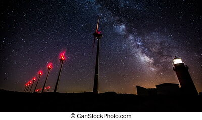 milky way across the night sky 1