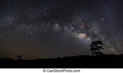 Milky Way at Phu Hin Rong Kla National Park,Phitsanulok...