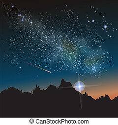 Milky Way Constellation - Abstract vector science image of ...