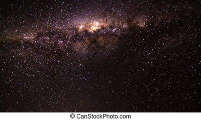 milky way crossing the sky timelaps - milkyway galaxy time...