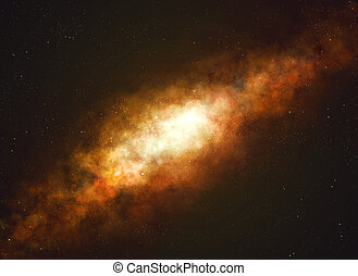 Milky way galaxy and starfield. - Milky way galaxy on black ...