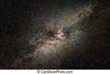 Milky Way galaxy in the night sky.