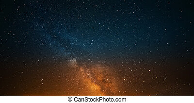 milky way on a clear night