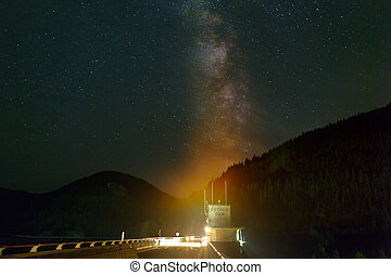 Milky Way over Detroit Dam