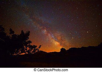 milky way over Sardinia