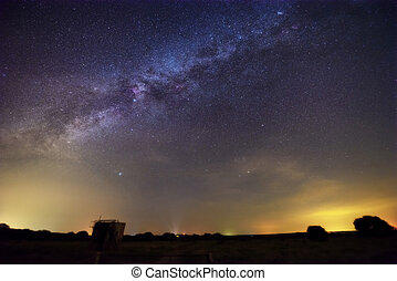 Milky way over summer night sky, Texas
