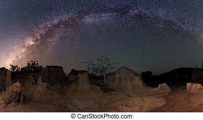 Milky way over the canyon