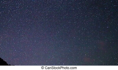 Milky Way over the mountains. Pamir, Tajikistan
