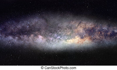 Milky Way panorama - Wide-field photo of majestic Milky Way...