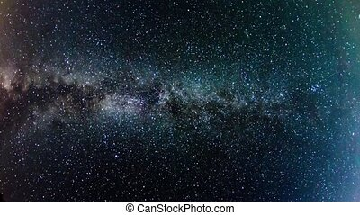 Milky Way, time-lapse