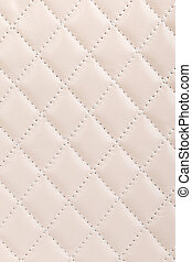 Milky white quilted leather background