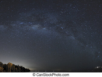 milkyway at dark night