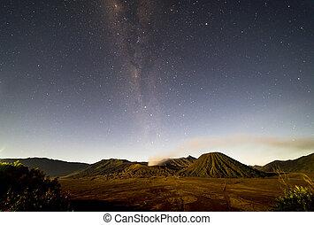 Milkyway - Milky way at Bromo mount, Indonesia