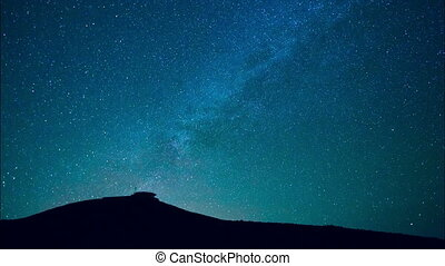 Milkyway star in dark night - Milky way stars at night