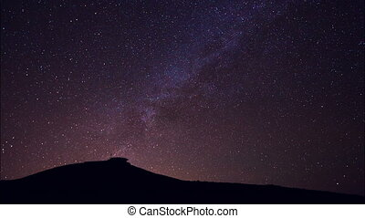 Milkyway star in dark night