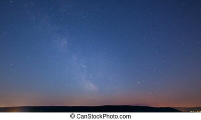 Milkyway Timelapse - Timelapse sequence of the milky way in...