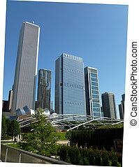 millénaire, chicago, parc, vue