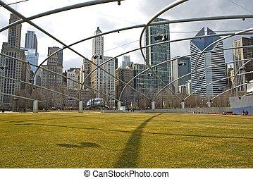 millénaire, parc, usa, chicago