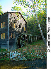 Mill and Creek - Working Amish Grist Mill