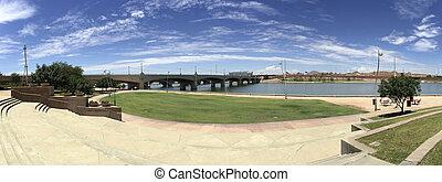 Mill Avenue Bridge over Salt Lake River, Tempe, AZ