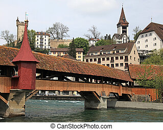 Mill Bridge,Lucerne, Switzerland