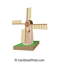 Mill cartoon icon