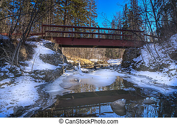 Mill creek ravine bridge, Edmonton, Alberta, Canada