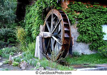 Mill - Digital photo of a old mill taken in South Tyrol in...