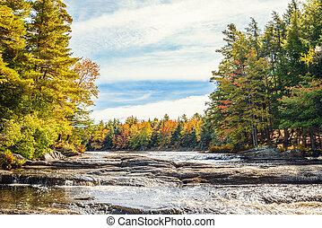 Mill falls in fall