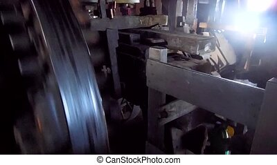 Mill inside - Inside a wind mill machine making oil
