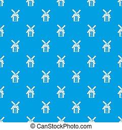 Mill pattern seamless blue