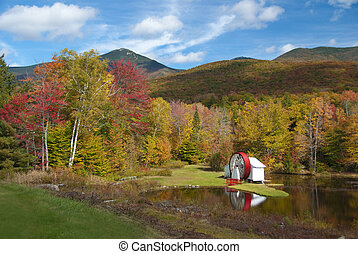 Mill pond in autumn