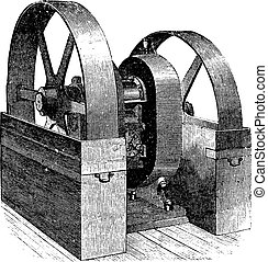 Mill, vintage engraving