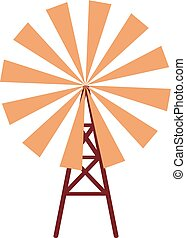 Mill - wind mill ,isolated,vector illustration
