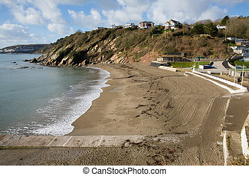 Millendreath Cornwall beach near Looe UK