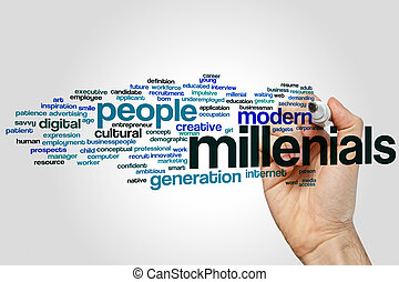 Millenials word cloud